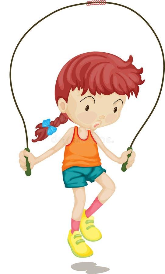 Una muchacha ilustración del vector