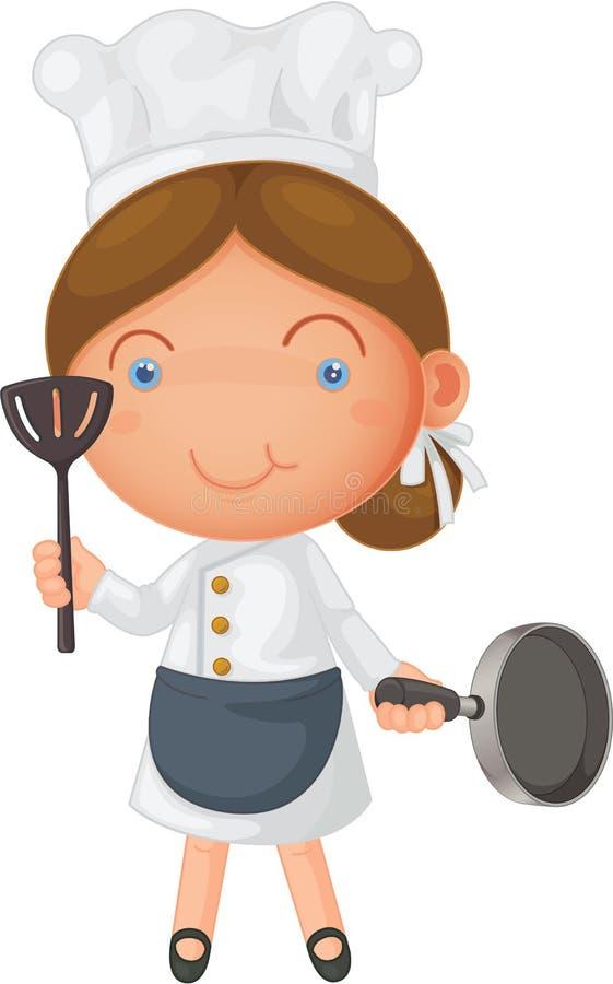 Una muchacha stock de ilustración