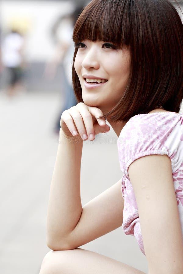 Una muchacha china fotografía de archivo