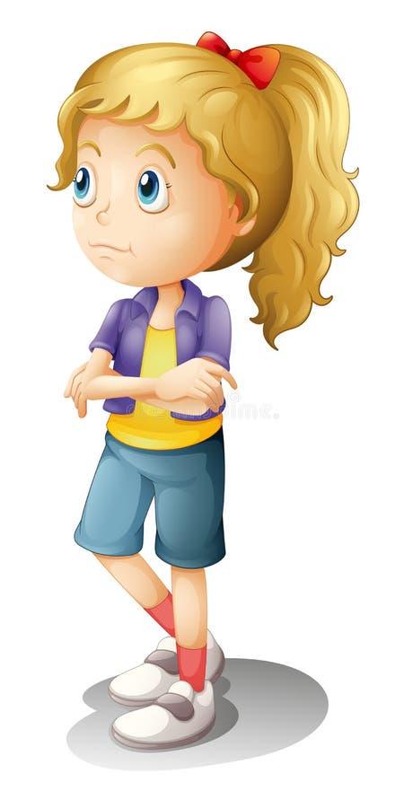Una muchacha de pensamiento libre illustration