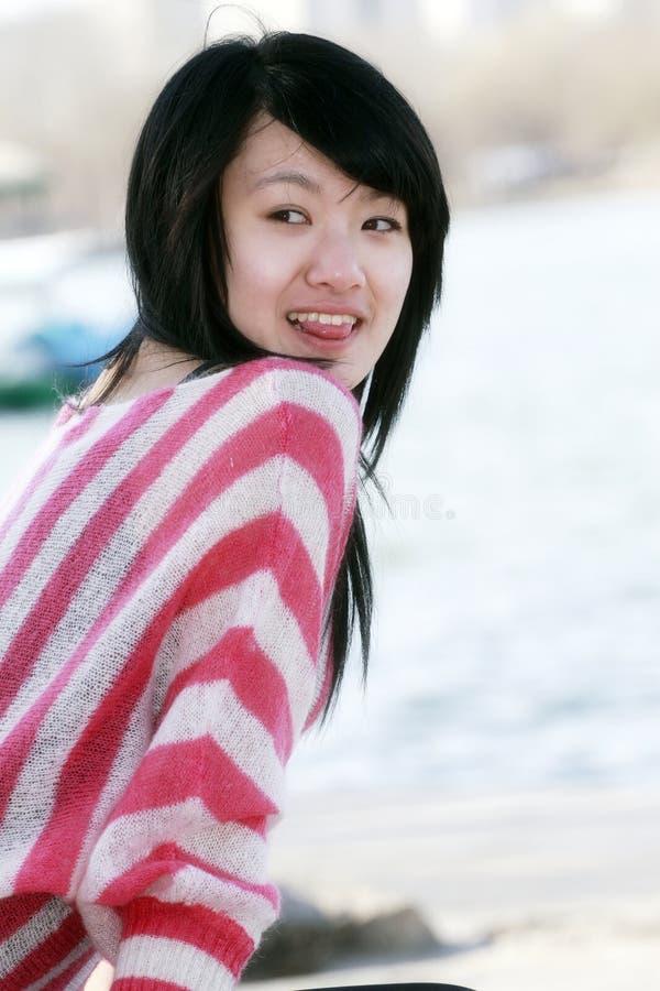 Una muchacha oriental fotos de archivo libres de regalías
