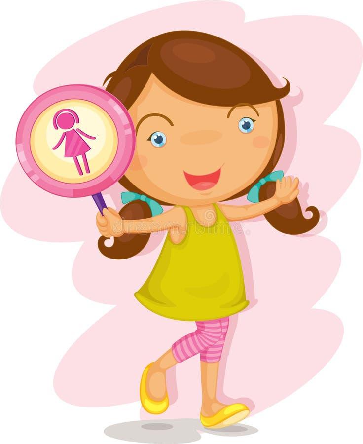 Una muchacha que muestra imagen libre illustration