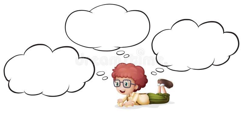 Una muchacha que piensa y que miente libre illustration