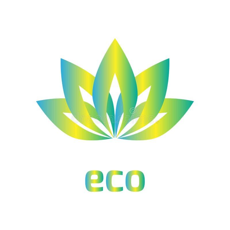 Una muestra de la flor, logotipo, hoja de la coincidencia, fondo del icono del eco, ejemplo del vector, EPS 10, elemento del dise stock de ilustración