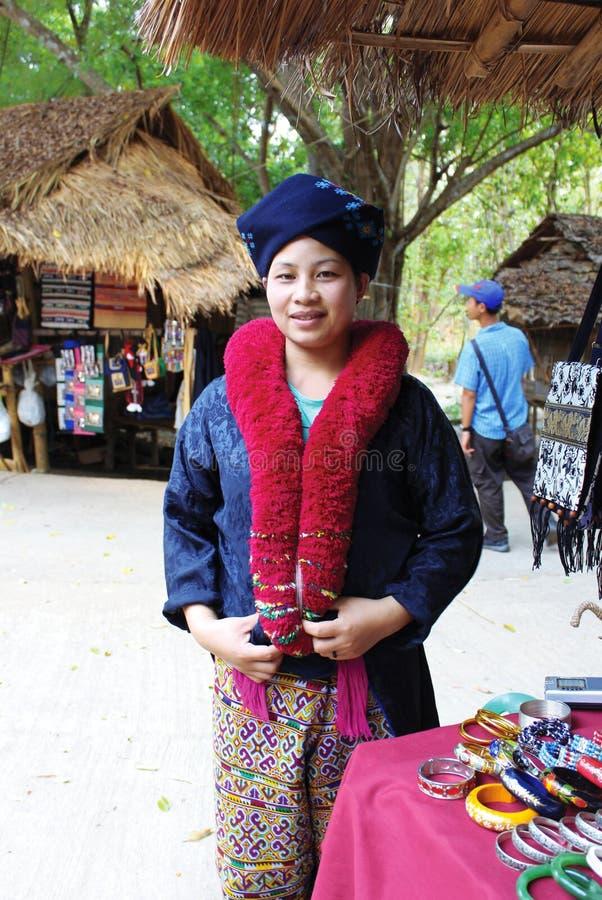 Una mujer de Akha imagen de archivo libre de regalías