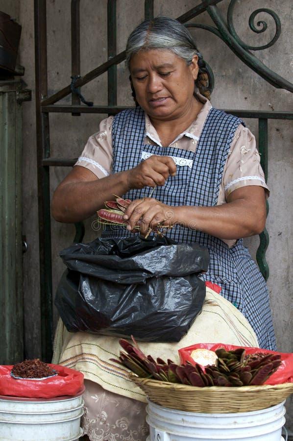Vendedor de la mujer de Oaxaca foto de archivo