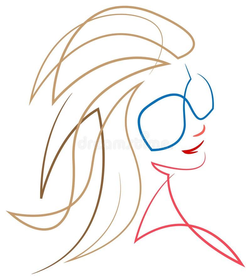 Una mujer elegante ilustración del vector