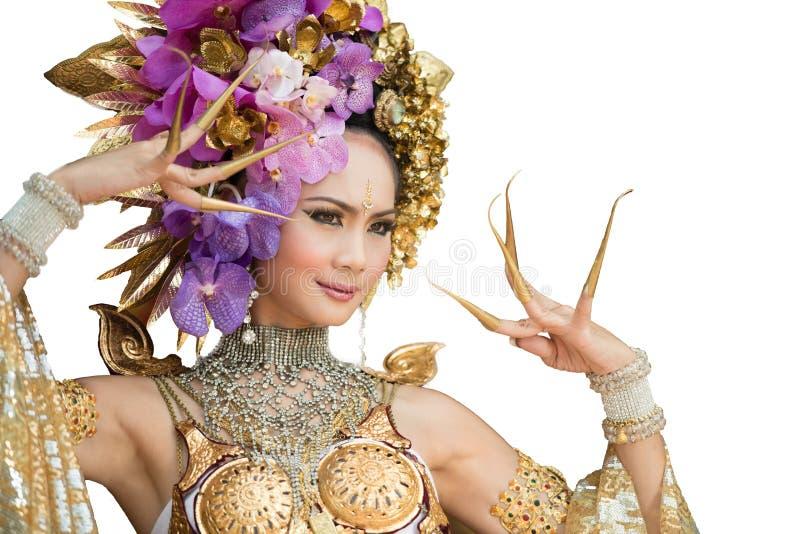 Una mujer elegante ChiangMai Tailandia del norte de Lanna fotos de archivo