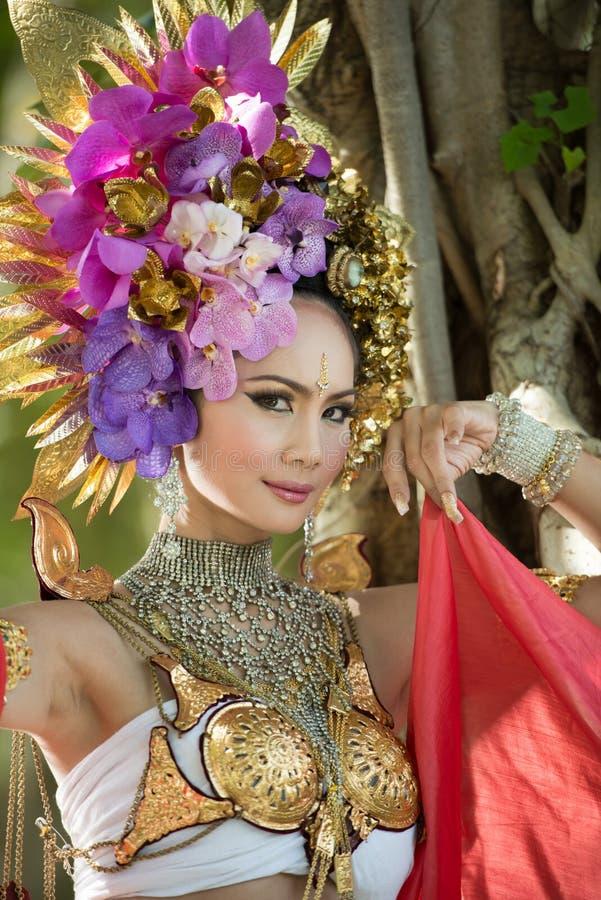 Una mujer elegante ChiangMai Tailandia del norte de Lanna fotografía de archivo