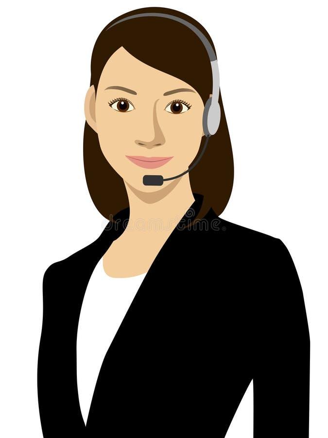 Una mujer y un receptor ilustración del vector