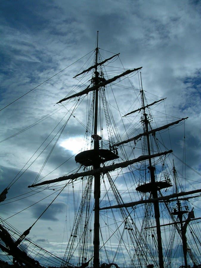 Una nave spettrale immagine stock