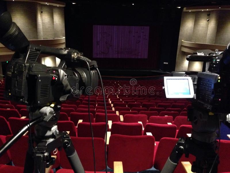 Una noche en el teatro imagenes de archivo