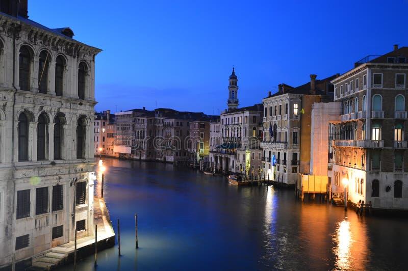 Una noche en Venecia imagen de archivo