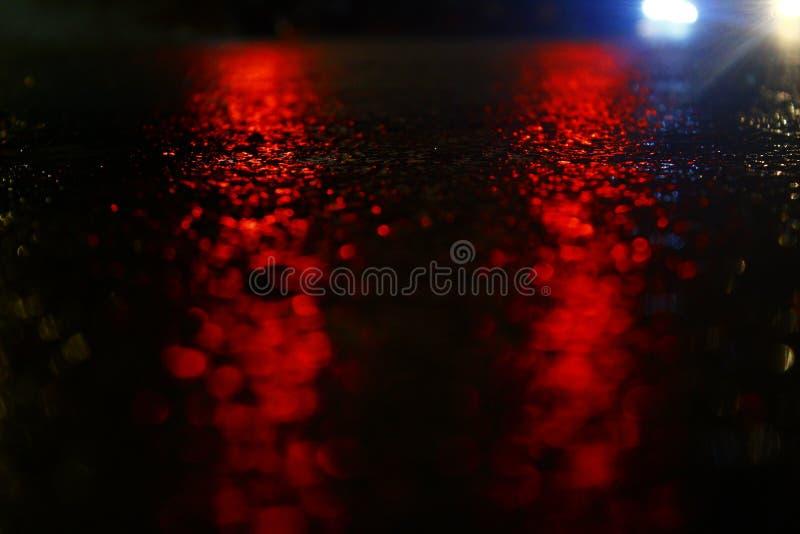 Una noche lluviosa fotografía de archivo