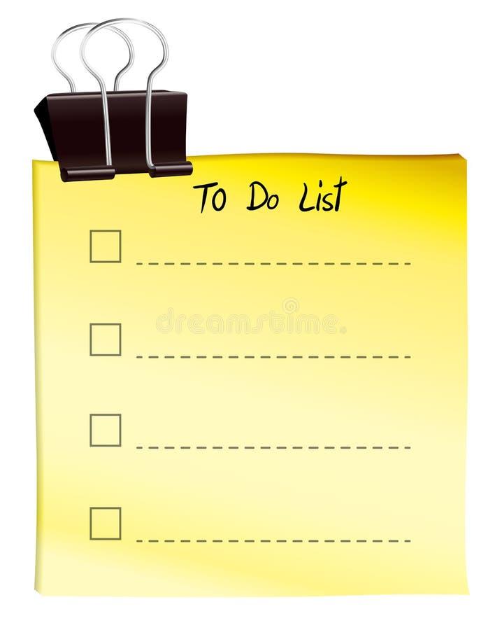 Una nota per fare lista royalty illustrazione gratis