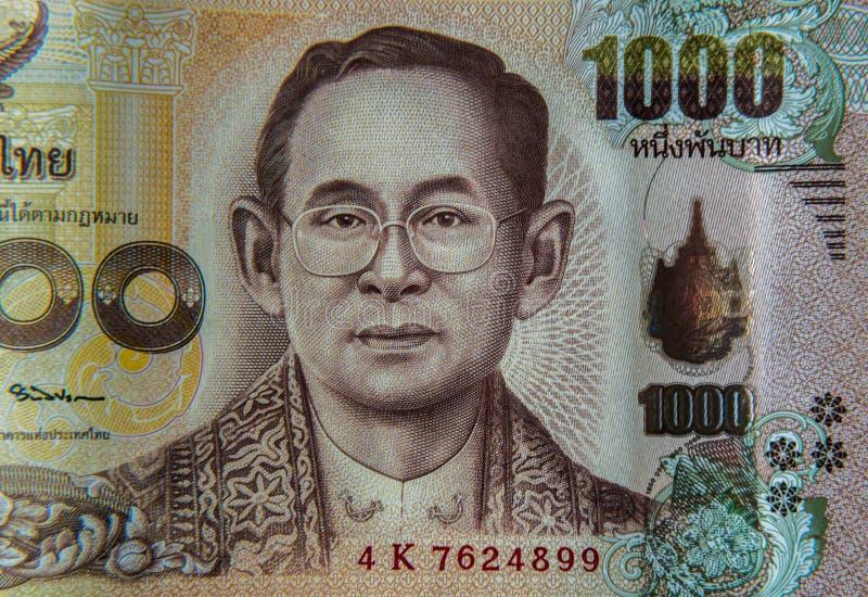 Una nota tailandese da 1000 baht immagini stock libere da diritti