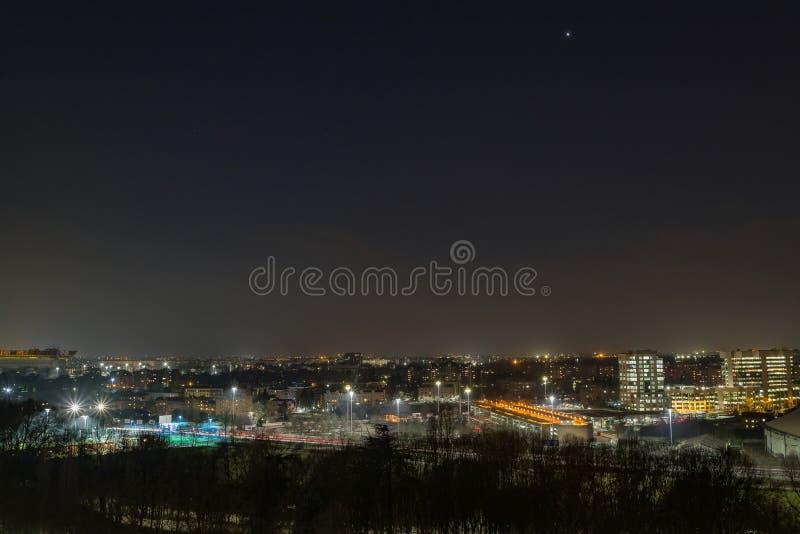 Una notte nella città immagine stock
