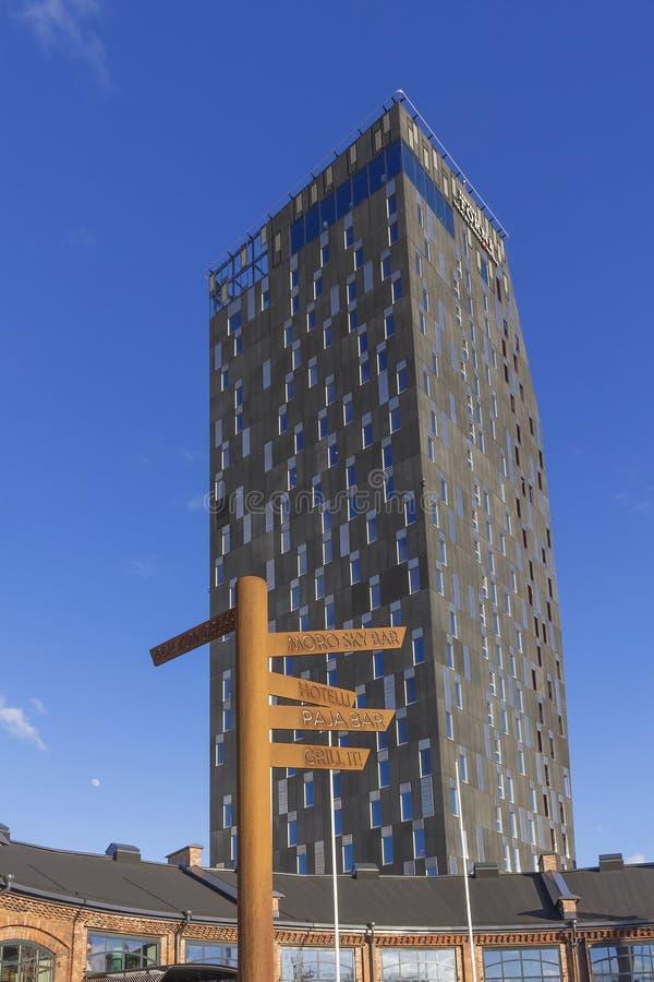 Una nuova costruzione dell'hotel fotografie stock