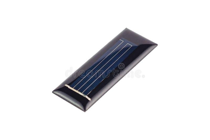 Una nuova pila solare rettangolare protettiva del silicone o della resina trasparente isolata su fondo bianco fotografia stock libera da diritti