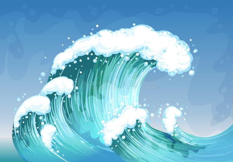 Una onda muy grande ilustración del vector