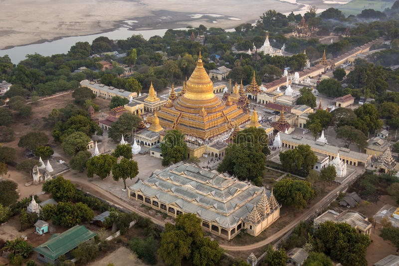 Pagoda de Shwezigon - Bagan - Myanmar imágenes de archivo libres de regalías