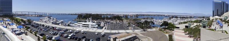 Una opinión aérea del día Embarcadero Marina Park South imagen de archivo libre de regalías