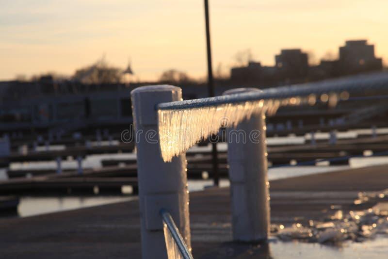 Una opinión del invierno en Chicago imágenes de archivo libres de regalías