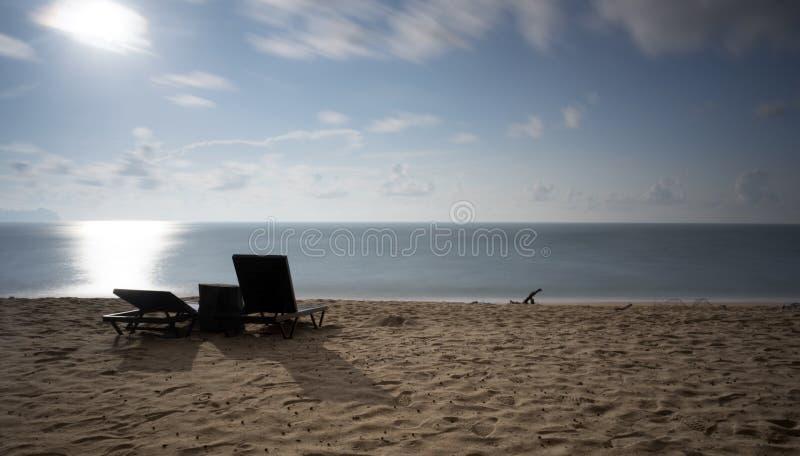 Una opinión del paisaje marino durante mañana imágenes de archivo libres de regalías