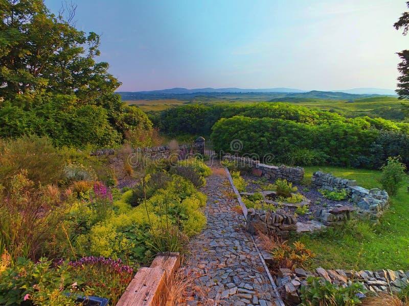 Una opinión preciosa del pantano de Connemara foto de archivo libre de regalías