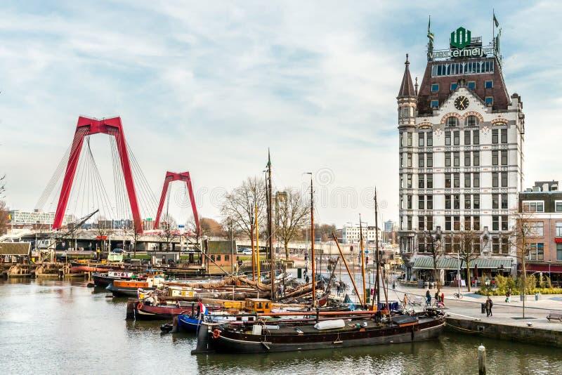 Una opinión sobre el asilo de Oude, Rotterdam, los Países Bajos fotos de archivo libres de regalías
