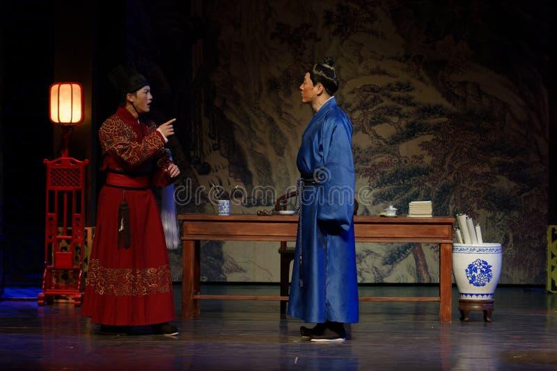 Una orden del palacio- del acto en segundo lugar: la noche del drama histórico ejército-grande, ` Yangming ` de tres noches imagen de archivo