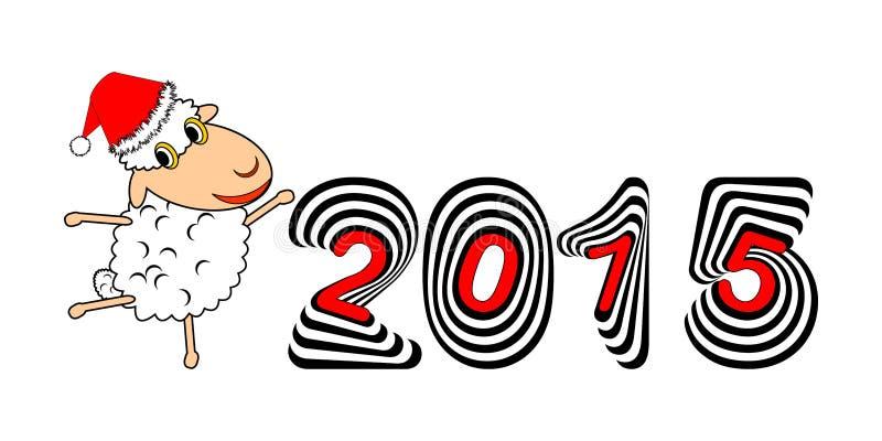 Una oveja divertida de la historieta de la Navidad libre illustration