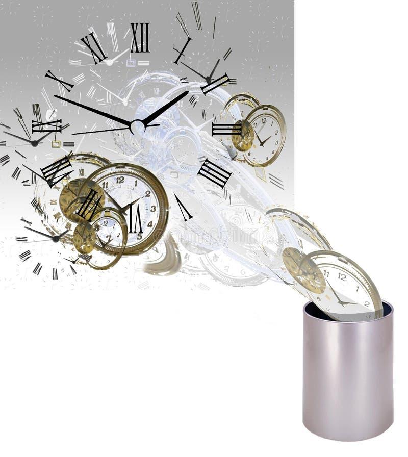 Una pérdida de tiempo 2 ilustración del vector