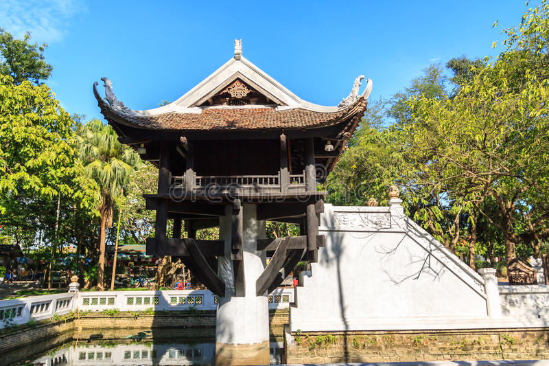 Una pagoda del pilar, Hanoi fotografía de archivo libre de regalías