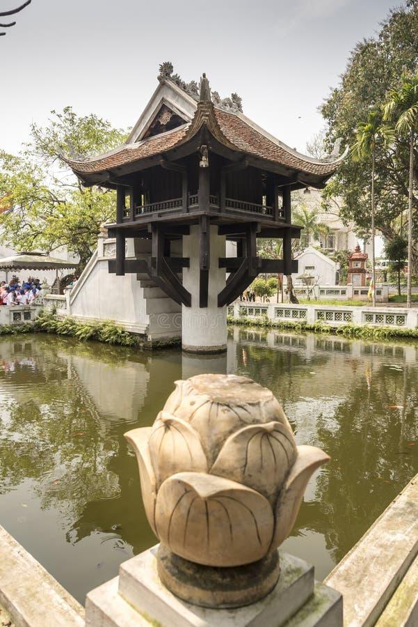 Una pagoda Hanoi della colonna fotografia stock libera da diritti
