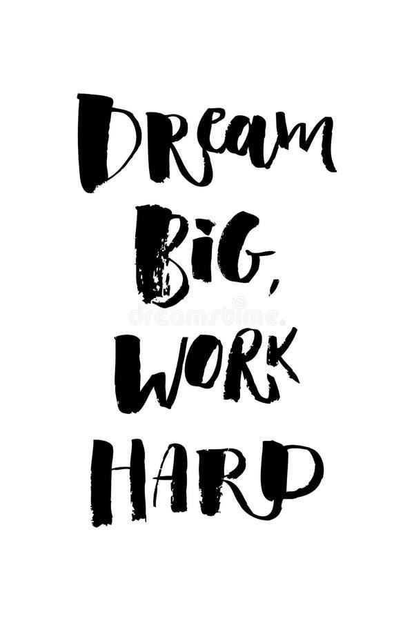Una palabra positiva, demandas Frase dura del trabajo grande ideal para la motivación, para un cartel, para una impresión, camise ilustración del vector