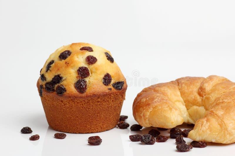 Una panadería marrón del cruasán del mollete fotografía de archivo
