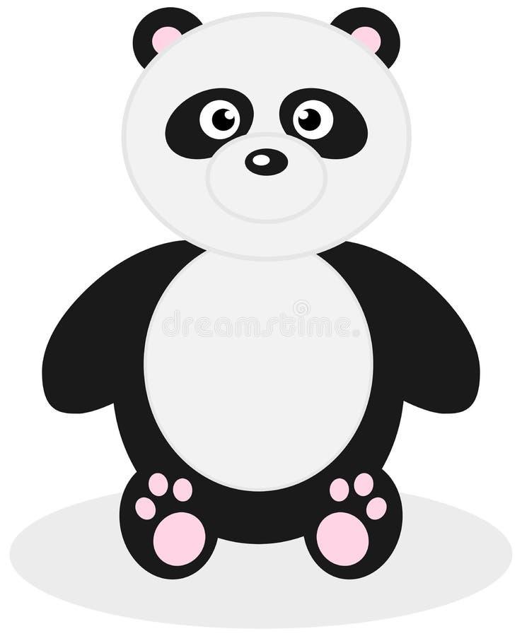 Una panda de la felpa ilustración del vector