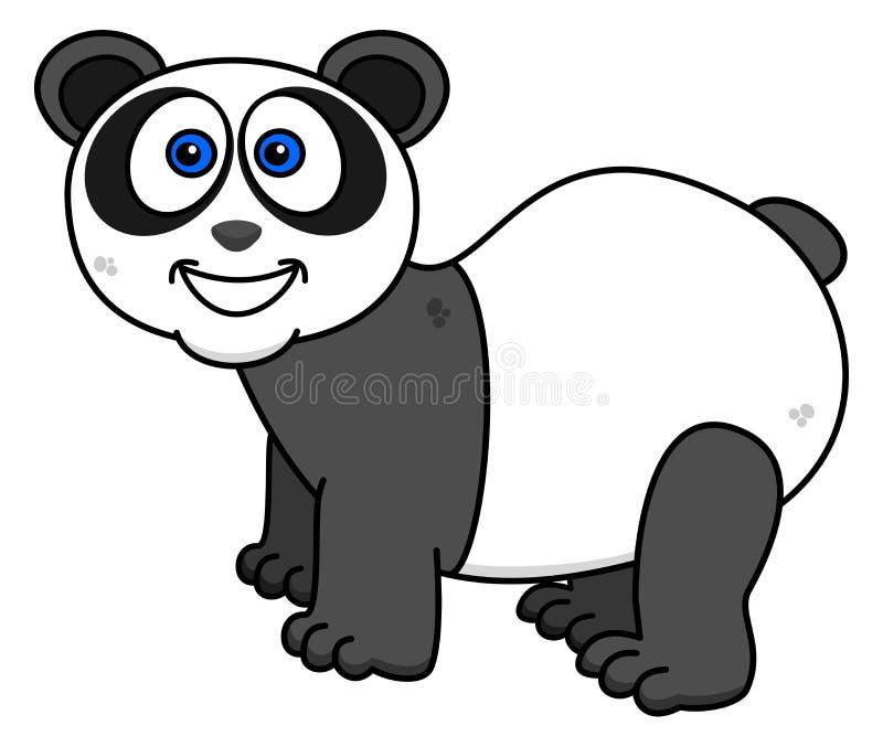 Una panda que sonríe en perfil ilustración del vector