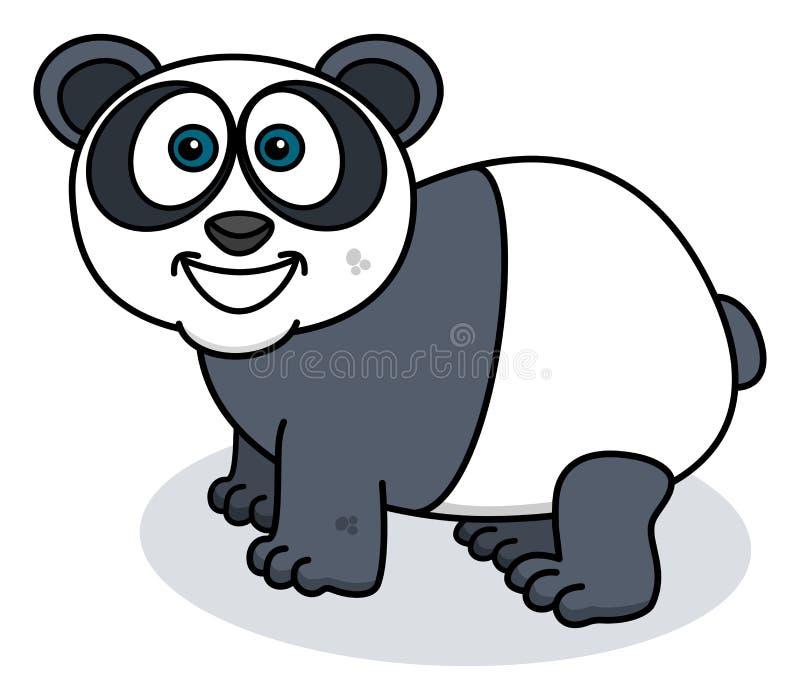 Una panda que sonríe en perfil stock de ilustración