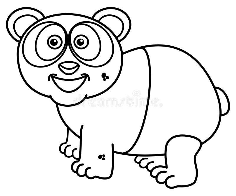 Una panda que sonríe para colorear libre illustration