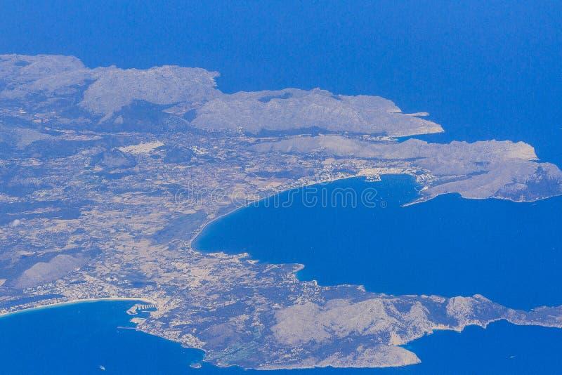 Una panoramica dell'isola di Mallorca immagine stock