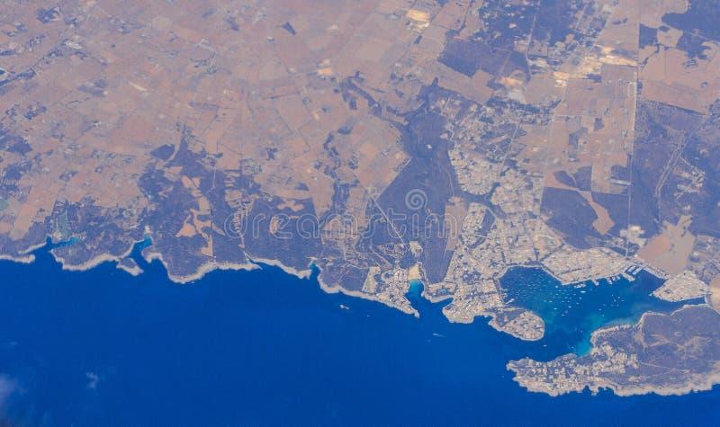 Una panoramica dell'isola di Mallorca fotografia stock