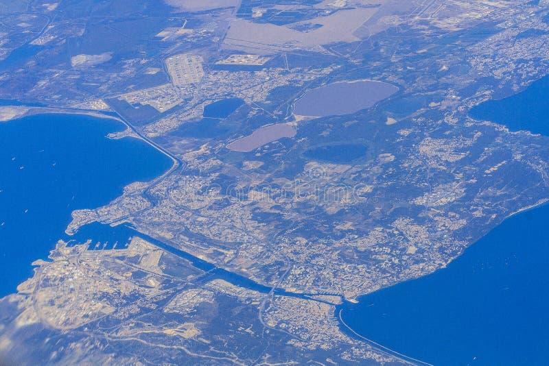 Una panoramica di Martigues fotografia stock