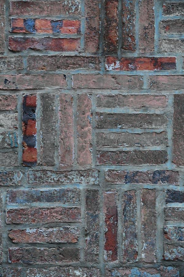 Una pared de ladrillo vieja fotos de archivo