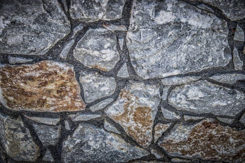 Una parete di pietra immagini stock