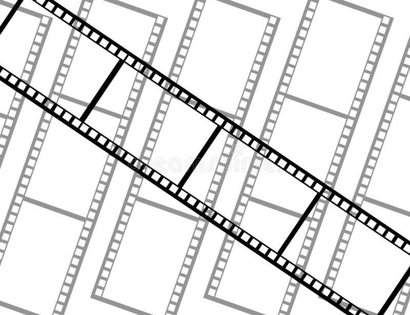 Una película con otras películas en el fondo imagenes de archivo