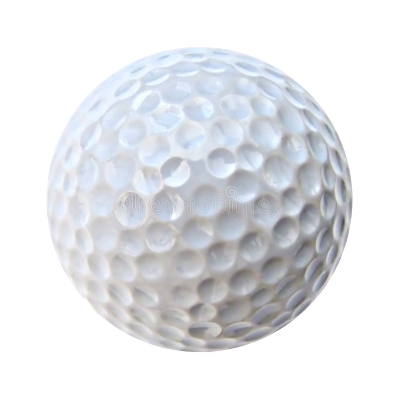 Una pelota de golf blanca imágenes de archivo libres de regalías