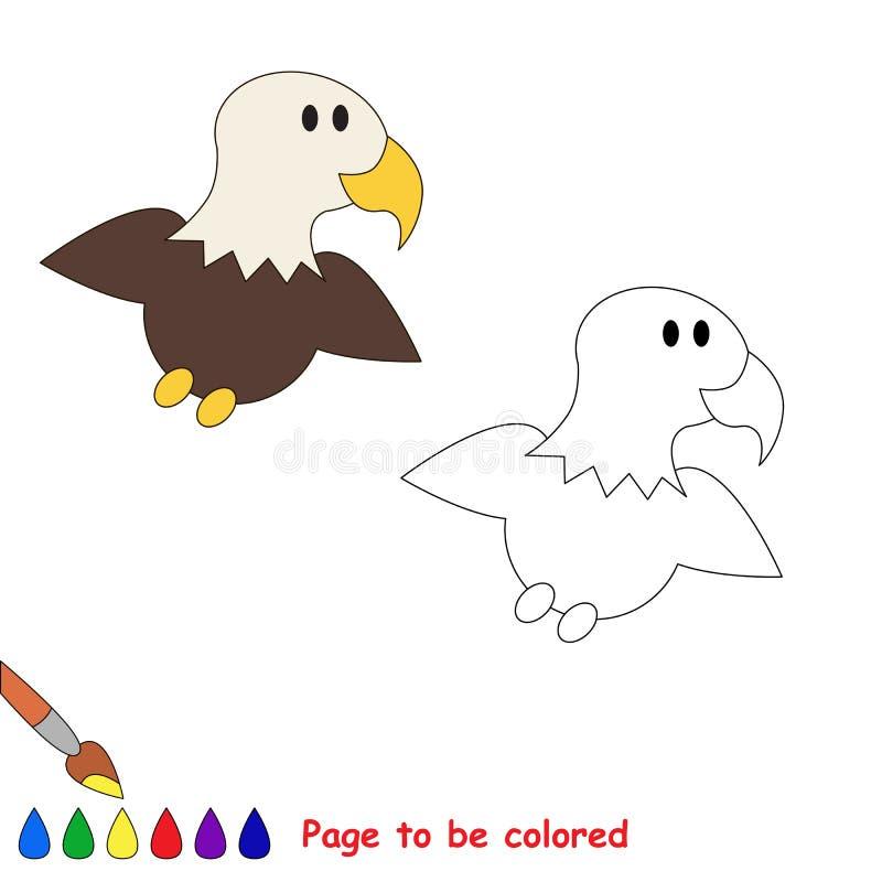 Una Pequeña águila Página A Ser Color Ilustración del Vector ...
