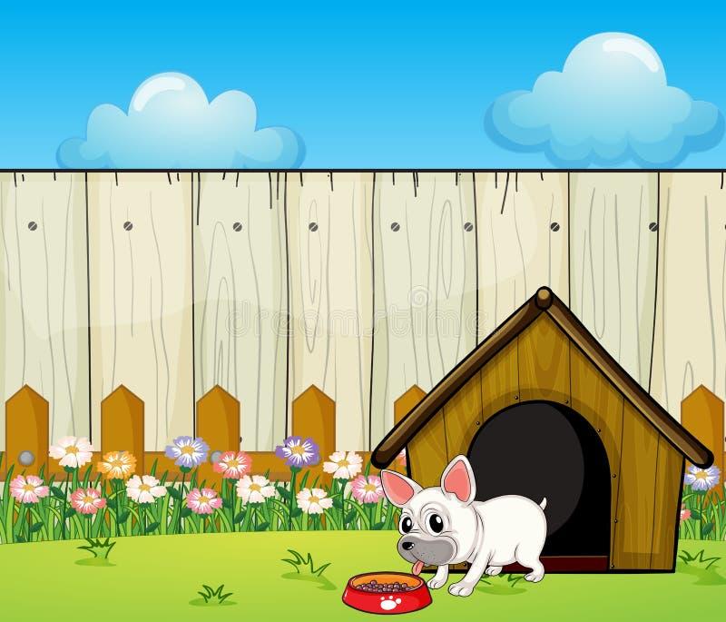 Una pequeña consumición del perro stock de ilustración